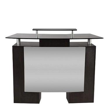 glasstop salon desk