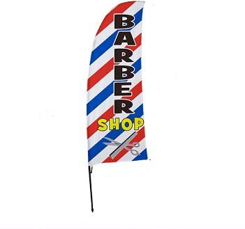Barber pole Flag
