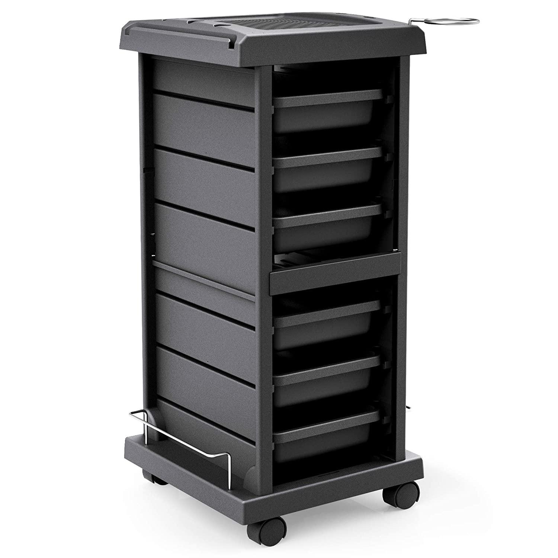 TASALON Salon Trolley Cart for Salon Station - Space Saving Salon Rolling Cart for Extra Storage - Hair Salon Beauty Storage Cart - 6-Tray Salon Cart - Multipurpose Tool Cart - Tattoo Tray - Hair Cart